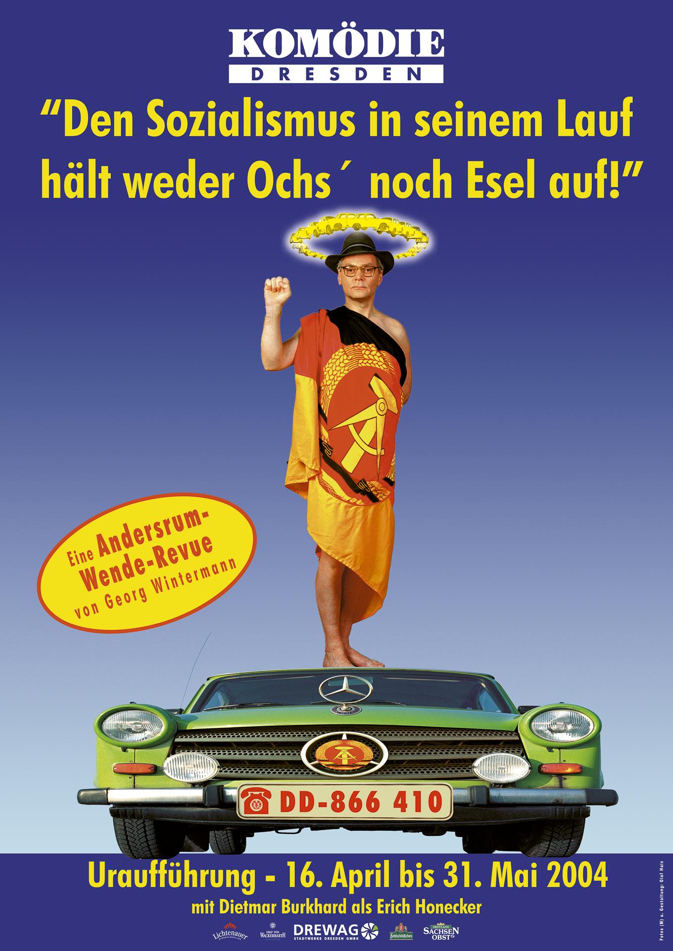 Revue, Plakat für die Komödie Dresden